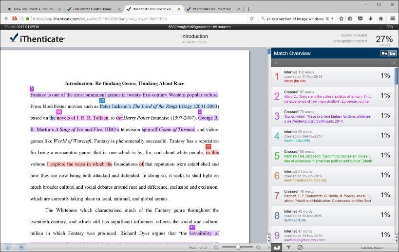 بررسی سرقت ادبی متن و مقاله با نرم افزار iThenticate