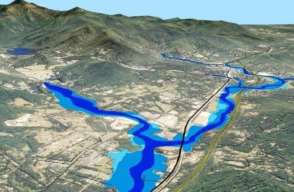 پهنه بندی سیل و تعیین حریم رودخانه ها